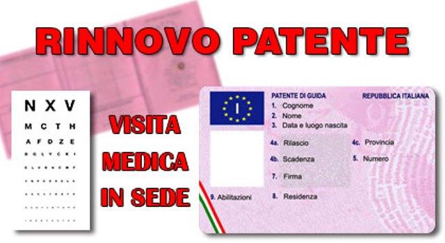 Visita Medica per rinnovo patente di guida